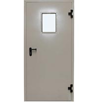 Металлическая противопожарная дверь с остеклением IE-60