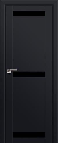 Дверь 75U, черный матовый, остекленная