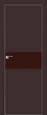 Дверь 4E Темно-коричневый, коричневый лак