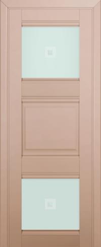Дверь 6U, капучино-сатинат, остекленная, матовое с узором