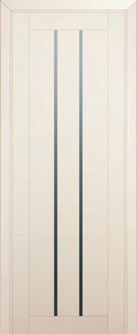 Дверь 49U, магнолия-сатинат, частично остекленная, графит