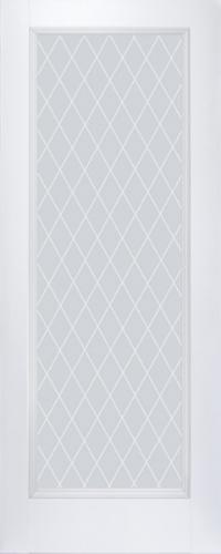 Дверь 65U, аляска, остекленная, матовое с узором
