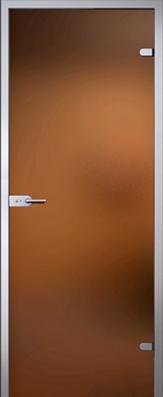 Дверь Light (Лайт), стекло матовое бронза