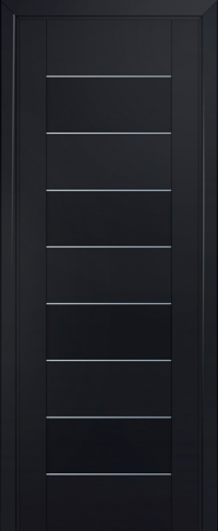 Дверь 45U, черный-матовый, частично остекленная