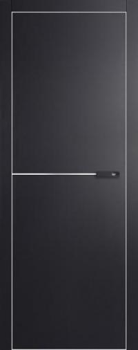Дверь 4VG черный матовый - высокий глянец