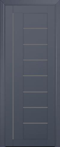 Дверь 17U, антрацит, остекленная