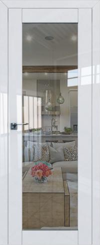 Дверь 2-19L, белый люкс