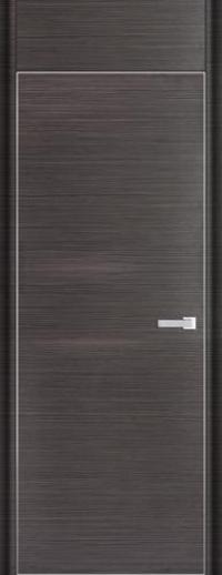 Дверь 1D, грей браш - НанШпон