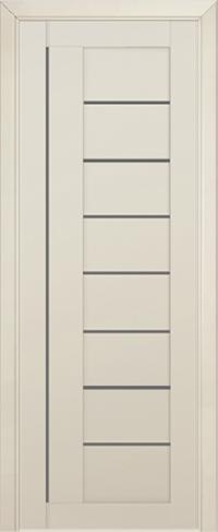 Дверь 17U, магнолия сатинат, остекленная