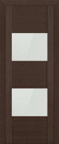 Дверь 21X, венге мелинга, белый глянцевый лак - Экошпон