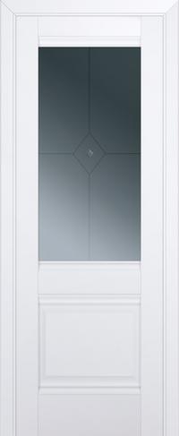 Дверь 2U, аляска, остекленная, граффит №1 с узором