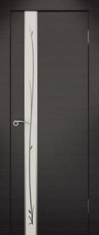 Дверь Маэстро, венге, белое стекло - Экошпон