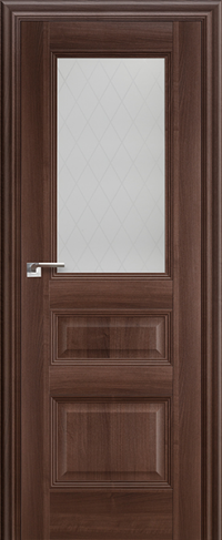 Дверь 67X, орех сиена, остекленная - Экошпон