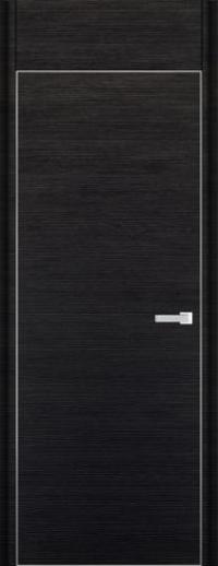 Дверь 1D, черный браш - НанШпон