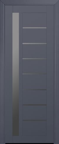 Дверь 37U, антрацит, остекленная