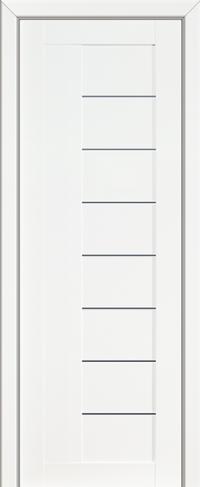 Дверь 17L, белый люкс, остекленная