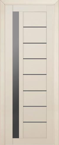 Дверь 37U, магнолия сатинат, остекленная