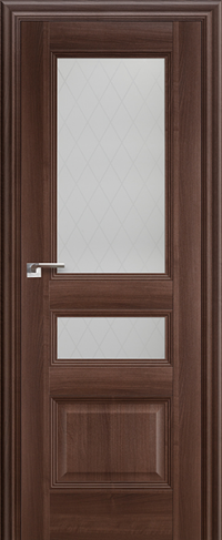 Дверь 68X, орех сиена, остекленная - Экошпон