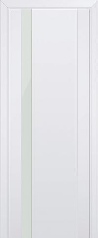 Дверь 62U, аляска, остекленная, белый лак