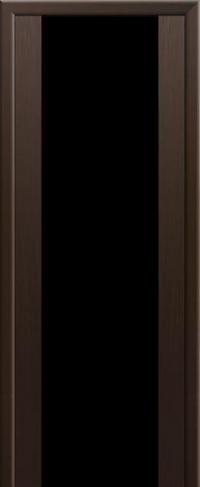 Дверь 8X, венге мелинга, черный триплекс - Экошпон
