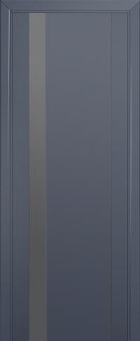 Дверь 62U, антрацит, остекленная, серебряный лак
