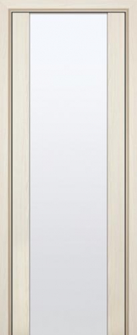 Дверь 8X, эш вайт мелинга, белый триплекс - Экошпон