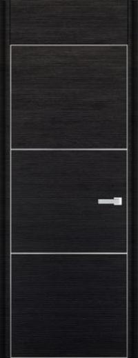 Дверь 2D, черный браш - НанШпон