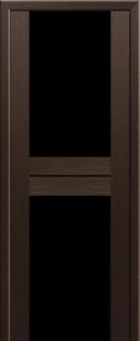 Дверь 10X, венге мелинга, черный триплекс - Экошпон