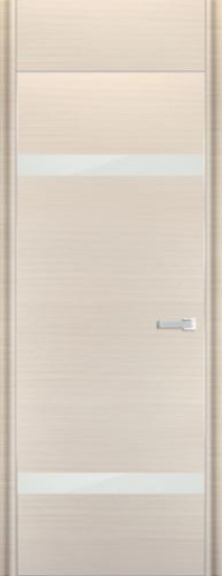 Дверь 3D, белый дуб браш - НанШпон
