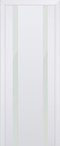 Дверь 63U, аляска, остекленная, белый лак