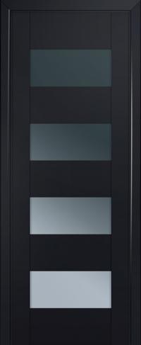 Дверь 46U, черный-матовый, остекленная, графит