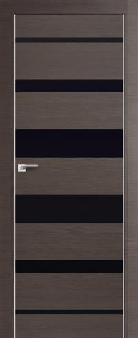 Дверь 18Z, грей, черный лак - Экошпон