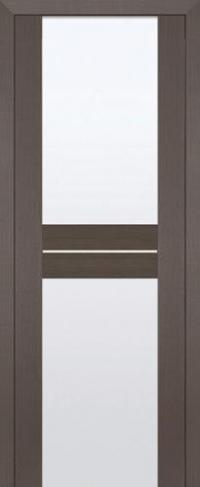 Дверь 10X, грей мелинга, белый триплекс - Экошпон