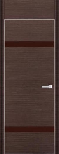 Дверь 3D, венге браш - НанШпон