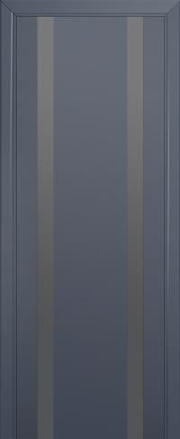 Дверь 63U, антрацит, остекленная, серебряный лак