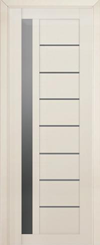 Дверь 37L, магнолия люкс, остекленная