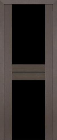 Дверь 10X, грей мелинга, черный триплекс - Экошпон