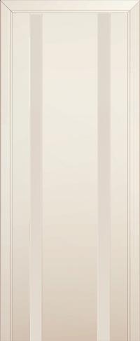 Дверь 63U, магнолия, остекленная, перламутровый лак