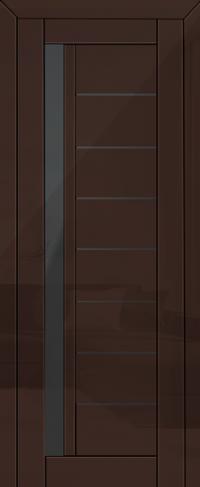 Дверь 37L, терра, графит остекленная