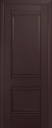 Дверь 1U, темно-коричневый, глухая