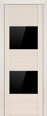 Дверь 21X, эш вайт мелинга, черный глянцевый лак - Экошпон