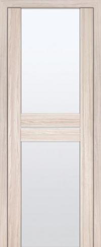 Дверь 10X, капучино мелинга, белый триплекс - Экошпон