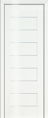 Дверь 45L, белый люкс, остекленная