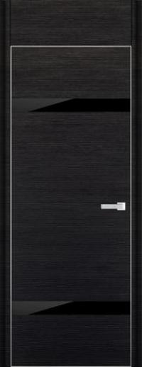 Дверь 3D, черный браш - НанШпон