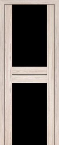 Дверь 10X, капучино мелинга, черный триплекс - Экошпон