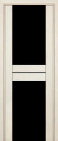 Дверь 10X, эш вайт мелинга, черный триплекс - Экошпон