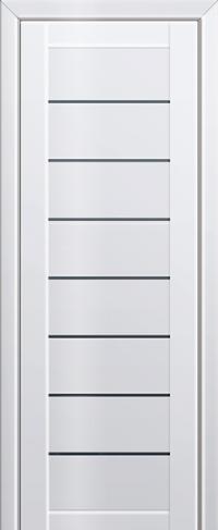 Дверь 71L, белый люкс, остекленная