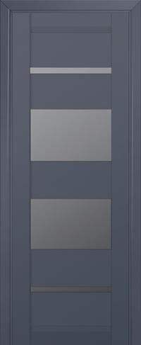 Дверь 72U, антрацит, остекленная