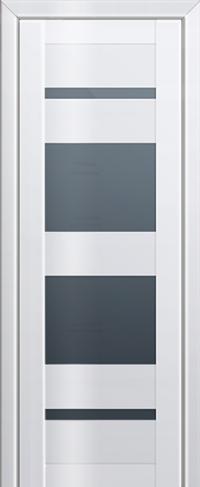 Дверь 72L, белый люкс, остекленная