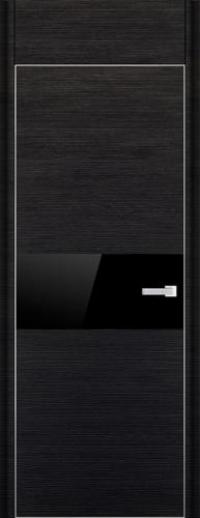 Дверь 4D, черный браш - НанШпон